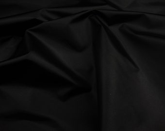 "60"" wide Black Packcloth 420 Denier Nylon Water Resistant  fabric per yard"