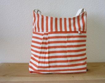 Summer Orange messenger bag /shoulder bag/Back to School/Diaper bag - Ready to ship