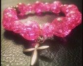 Glass Beaded Charm Bracelet