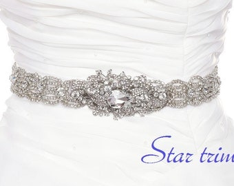 SALE SUZIE Wedding bridal crystal sash , belt