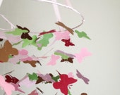 The Painting the Roses Red Butterfly Mobile / / / Nursery Decor, Baby Photo Prop, Baby Shower, Crib Mobile
