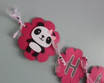 Panda Bear Birthday Banner
