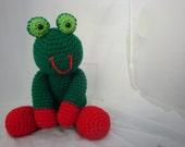 Frog Amigurumi Crochet Toy (15 inch-ish)