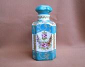 Handpainted little bottle porcelain with Florals
