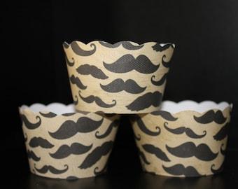 Vintage Mustache Cupcake wrapper