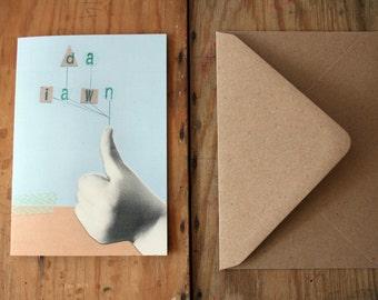Sale - Sel - Da Iawn Thumbs Up Well Done Eco Friendly Art Greeting Card