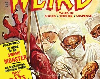 Weird Tales (Feb 71) - 10x13 Giclée Canvas Print of a Vintage Comic Book Cover
