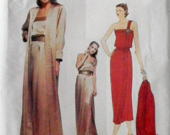 Vogue Paris Original Christian Dior-1970s Dress, Belt & Coat Pattern Bust 36 Vogue 2127 FF