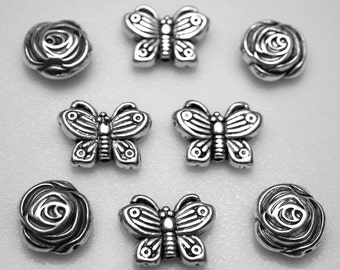 Magnets or Push Pins - Combo, Rose and Butterfly