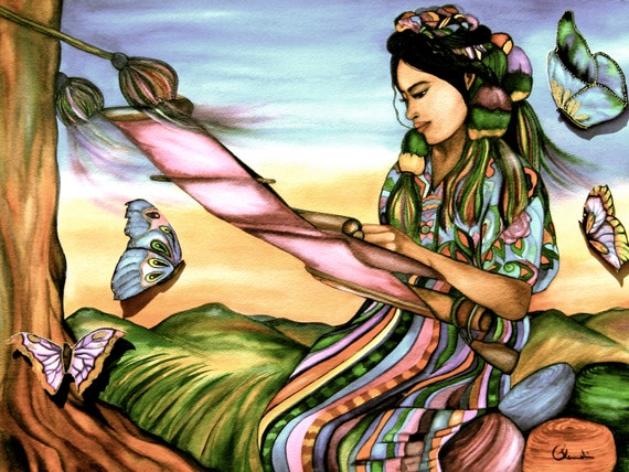 the weaver..latin america art print