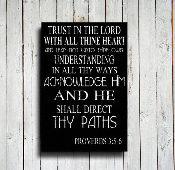 vertrauen sie im lord bibelspruch dekor 16 x 24. Black Bedroom Furniture Sets. Home Design Ideas