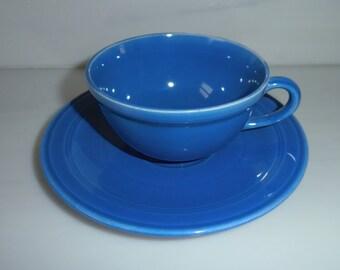 Vernon Kilns Teacup Blue Early California Teacup and Saucer