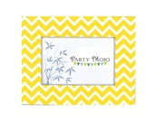 Chevron Yellow Zig Zag 4x6 Picture Frame Great for Table or Wall