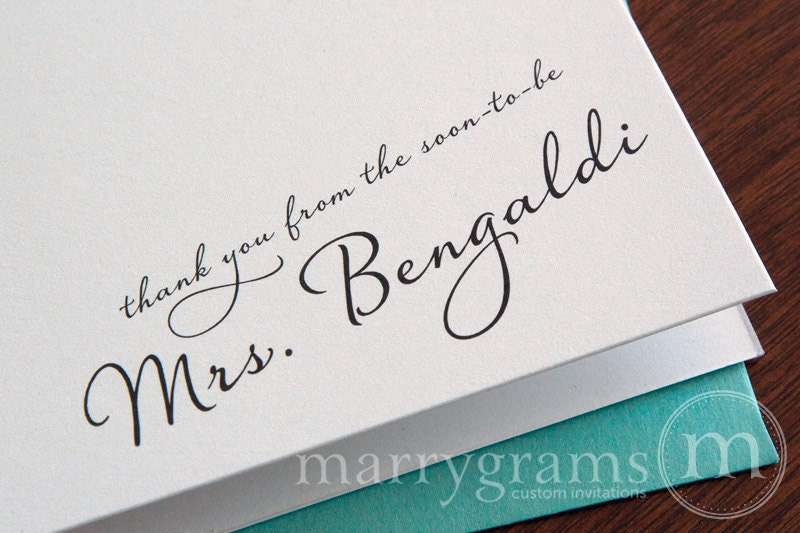 Bridal shower thank you cards – Wedding Shower Thank You Cards