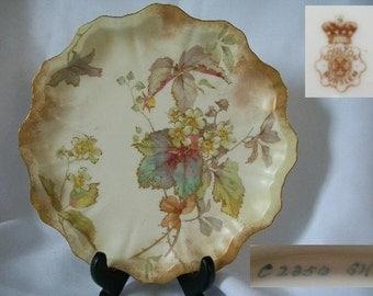 1888 Antique DOULTON BURSTEN Collectible Shelf Plate/Free Shipping