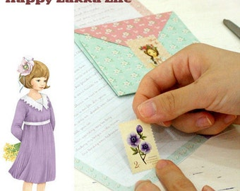 Lovely Girls Petit - Postage Stamp Sticker Set - 2 Sheets