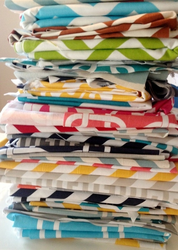 BLOWOUT SALE Extra Large Fabric Scraps Assortment. Premier Prints Remnants. Home Decor Fabric Mix. Large Pieces.