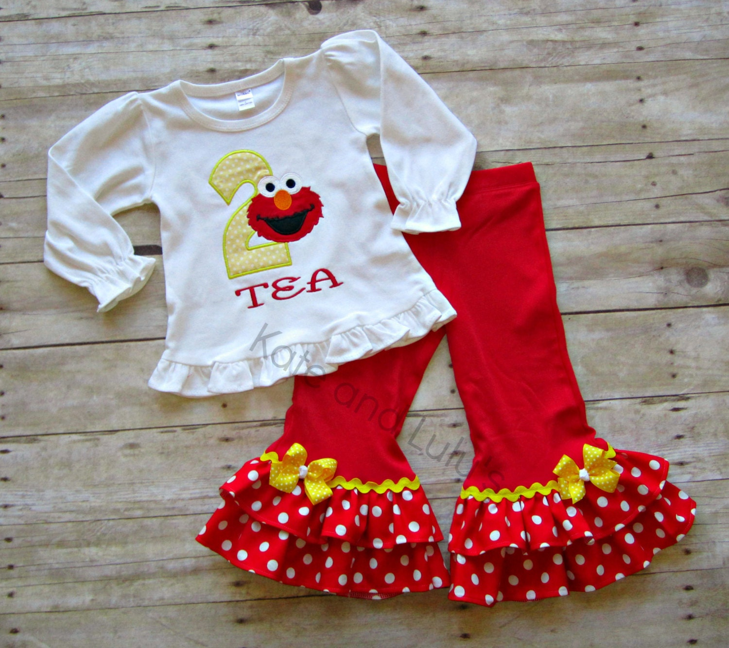 Girls Elmo Birthday Outfit Sesame Outfit Girls By KateandLulus