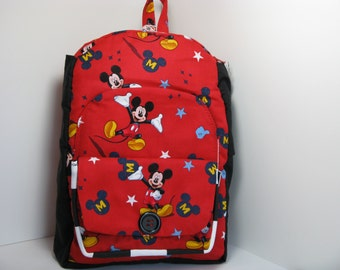 Mickey Mouse with Black & White Trim Preschool Backpack