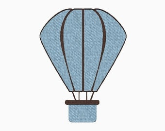 INSTANT DOWNLOAD Hot air balloon embroidery design