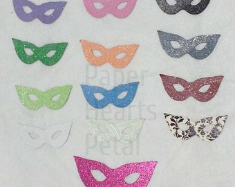 Custom 15 Masquerade Die Cut Masks - You pick your color