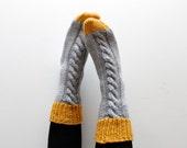 Sock Knitting Pattern INSTANT DOWNLOAD Slipper Socks, Thick socks, Bed Socks, Aran Sock Pattern