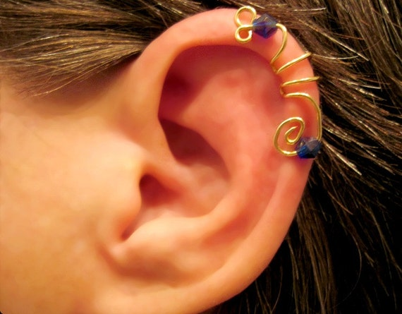 helix cuff earrings items similar to no piercing quot seahorse quot cartilage ear cuff 5679