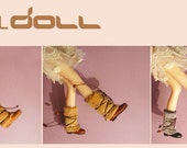GOTALL doll handmade Fluffy Boots for Blythe doll - doll shoes -  FULL SET 3 pairs
