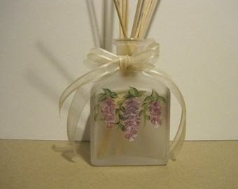 Wisteria Square Frosted Glass Reed Diffuser Oil Set