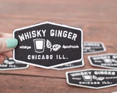 Whisky Ginger Patch -  Iron On Embroidered Whiskey Ironon Trucker Patch Vintage Handmade Chicago Illinois Logo
