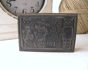 French Vintage Rubber Stamp Money, 100 Franc Vintage Rubber Stamp, French Franc, Le Franc, Cent Franc