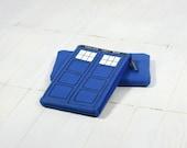 Tardis Felt Zip Pouch Doctor Who Geekery Blue Woman Wallet