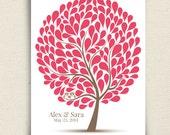 Unique Owl Guest Book Alternative - The Hootwik - A Peachwik Personalized Art Print - 150 guest sign in - Companion Owls in a Tree