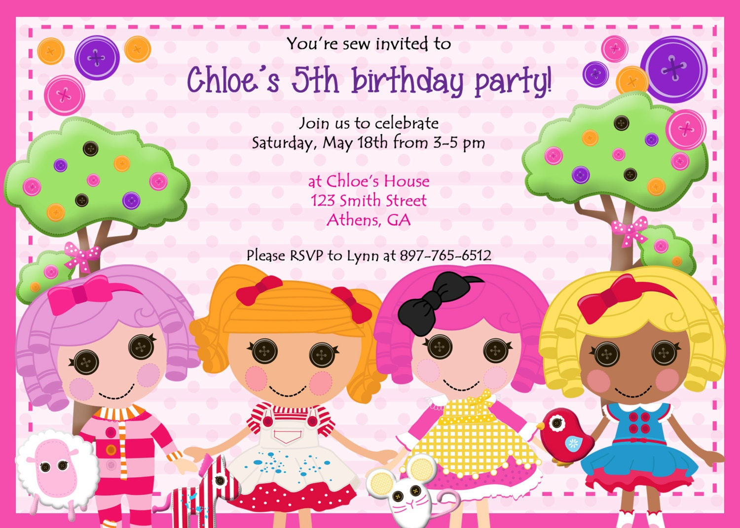 Lalaloopsy Invitations for best invitations layout