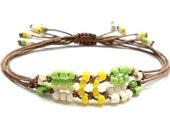 Cartouche  Beaded   Macrame Friendship Bracelet