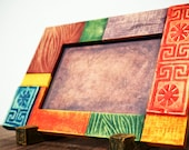 Colorful photo frame, Jogakbo (korean paper art)