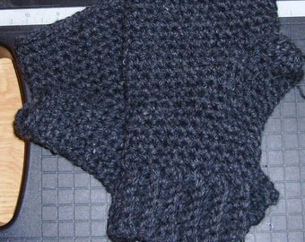 Fingerless Gloves, Mittens, Wrist Warmers, Gauntlets, Crochet, Chunky yarn,  Wool Blend, Made to Order