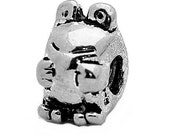 Adorable Froggy Frog Charm European bead for jewelry Genuine Sterling Silver 925