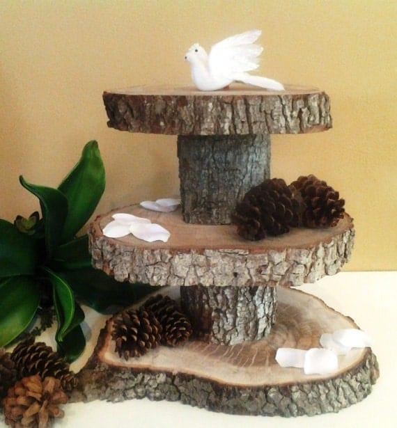 items similar to treasury item 3 tier rustic wedding. Black Bedroom Furniture Sets. Home Design Ideas
