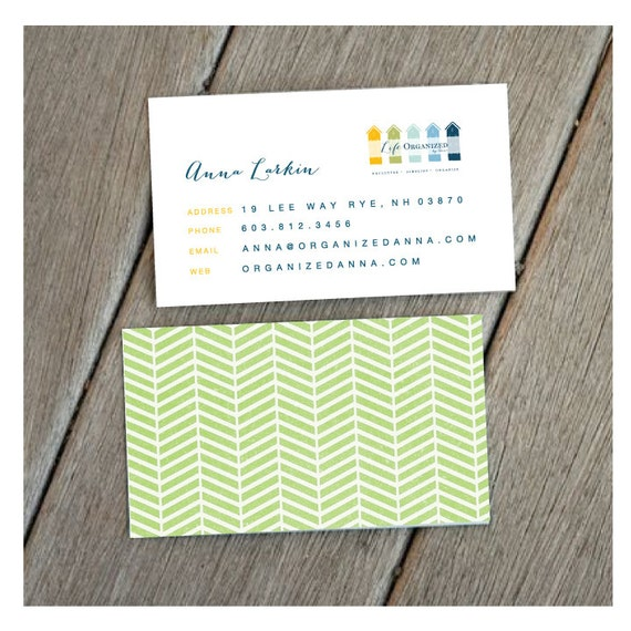 DIY Printable Business Card Double Sided by 603CreativeStudio