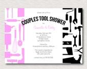 Couples Honey Do Tool Wedding Shower Invitation - PRINTABLE FILE