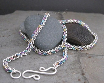 Multicolor Chainmaille Necklace