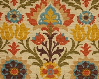 "Two 96"" x 50""  Custom  Curtain Panels  - Waverly Santa Maria - Adobe"
