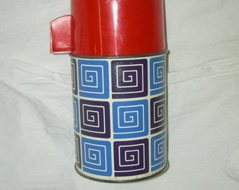 VINTAGE 1960s Funky Thermos Flask Tea Cocoa Aladin PICNIC