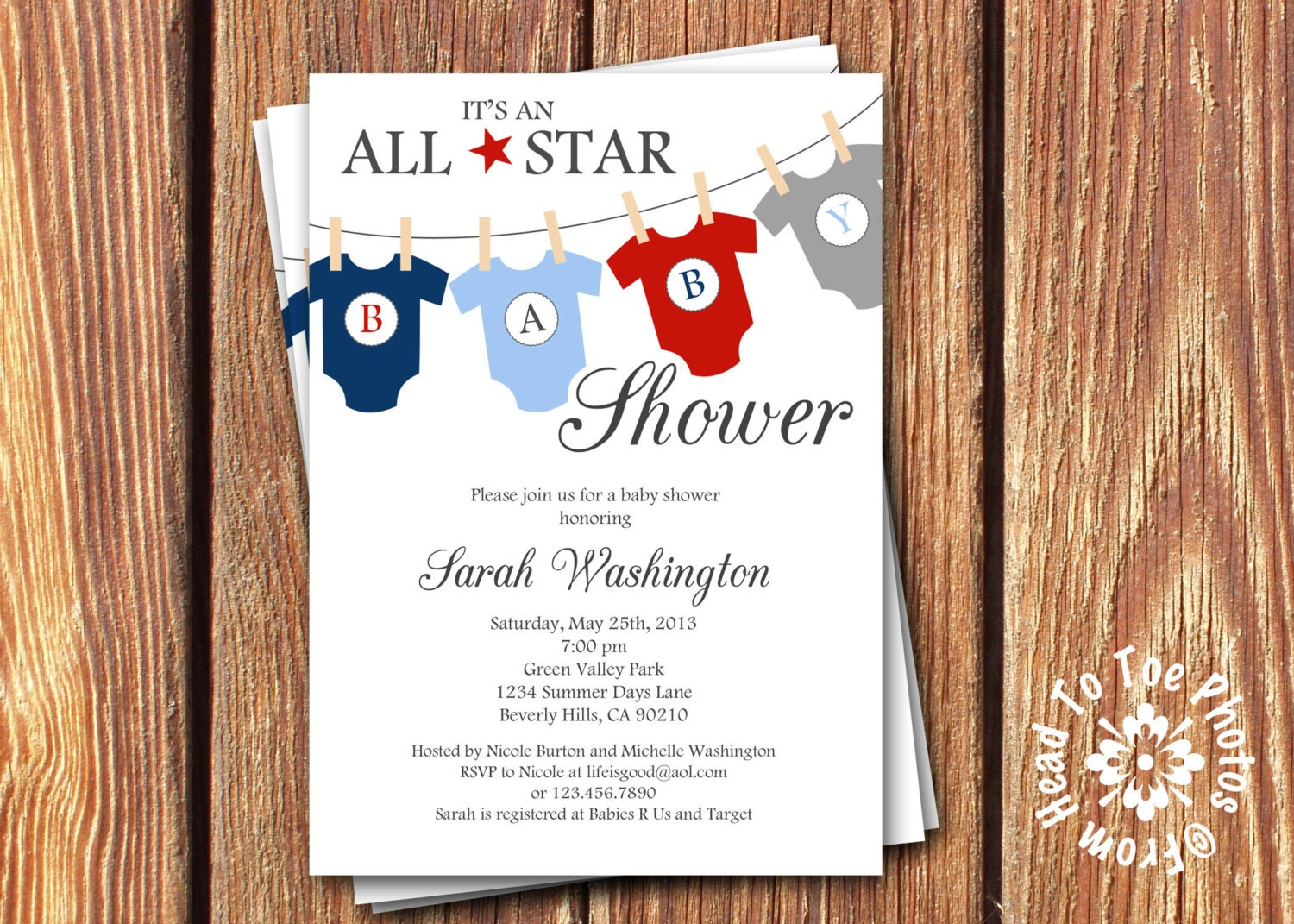 all star baby shower invitations by fromheadtotoedesigns on etsy