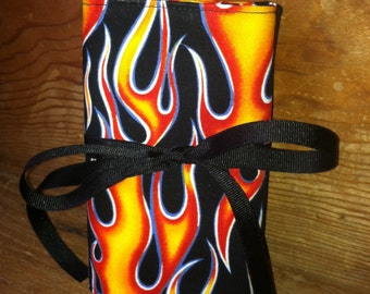 Cotton Travel First Aid Kit / Flames