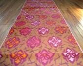 Kimono ikat  fabric kasuri pink orange