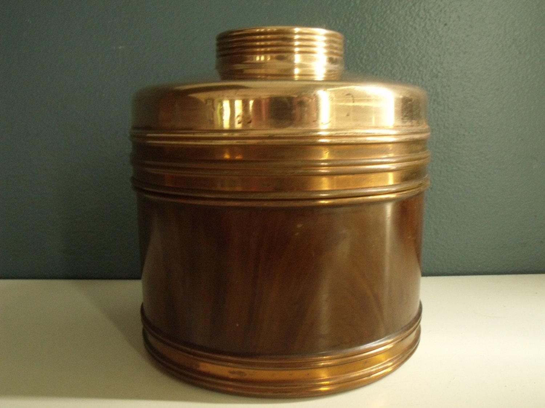 Vintage Rumidor Copper Cigar Tin Tobacco Canister Humidor