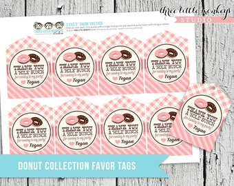 Donut Shop Favor Tags