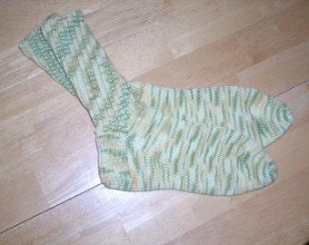 Ladies Wool/Cotton Socks - yellow/green/gold